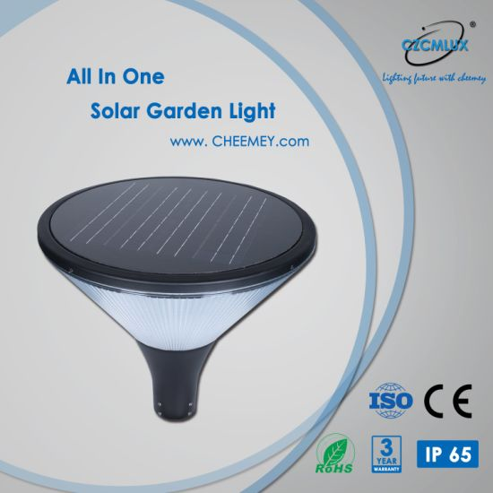 High Lumens 12W All in One Solar Garden Light with Ce
