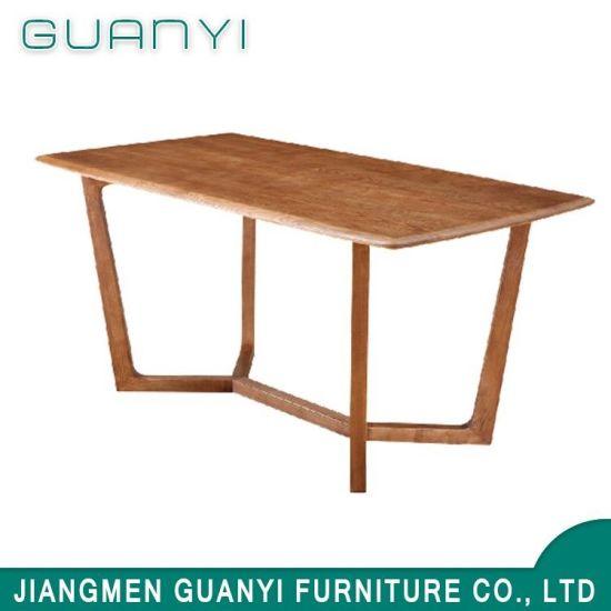 2018 Wholesales Fashion Solid Ash Wood Retangle Coffee Dining Table