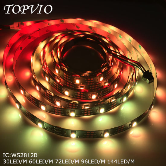 Digital RGB Ws2812b Addressable LED Strip Programmable for Dance Floor