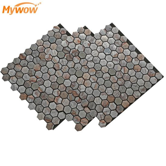 MyWow Wall Mosaic Tiles Glass Crystal Stickers for Background