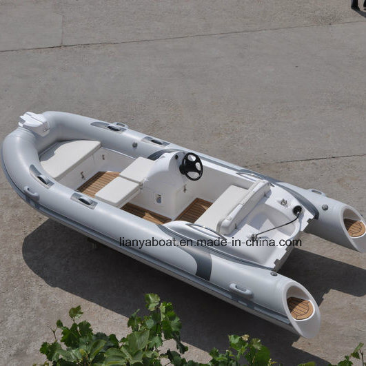 Liya 7person PVC Inflatable Boat Fiberglass Hull Boat for Sale