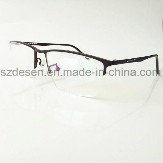 China Hot Selling Classical Half Rim Top Quality Metal Eyeglass ...