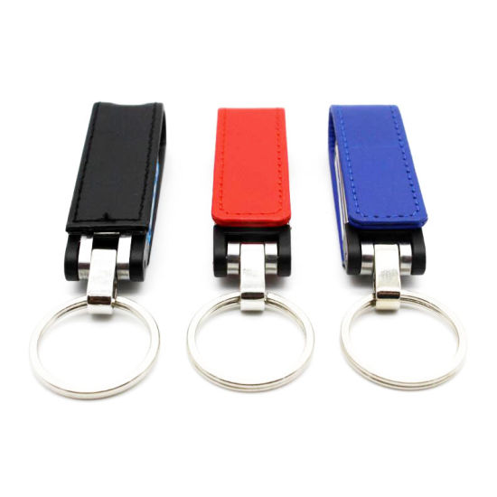 Fashion Leather USB Flash Drive Fur Key Chain Pendriver 8GB 16GB 32GB pictures & photos