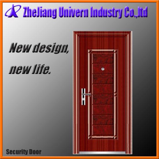 China Steel Safety Door Grill China Steel Door Single Leaf Door
