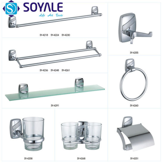 Zinc Alloy Bathroom Accessories Set with Chrome Finishing Item No. Sy-4400 Series
