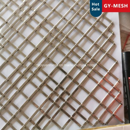Decorative Brass Wire Mesh Grill Copper Woven Mesh/Stainless Steel Crimped Mesh