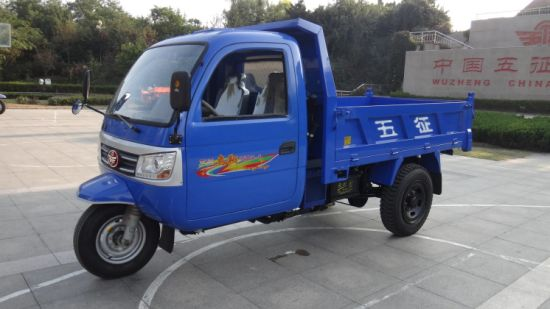 Chinese Closed Cargo Diesel Motorized Three Wheel Truck for Sale pictures & photos
