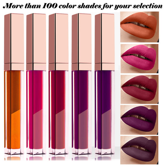 Private Logo Cosmetics Lip Gloss Makeup Package Tube Waterproof Long Lasting Matte Liquid Lipstick