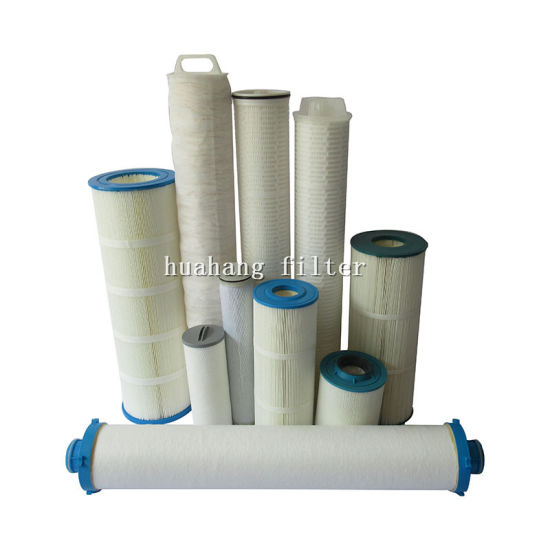Manufacturer of PP/polyster pleated swimming pool SPA filter element/ high flow particulate water filter cartridge