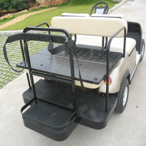 Folded Back Seat Golf Club Car