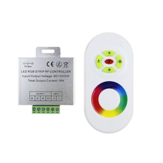 12V Wireless RF Touch Panel LED RGB Dimmer Remote Controller pictures & photos