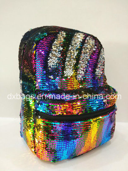 New Double Side Sequin Backpack Bags