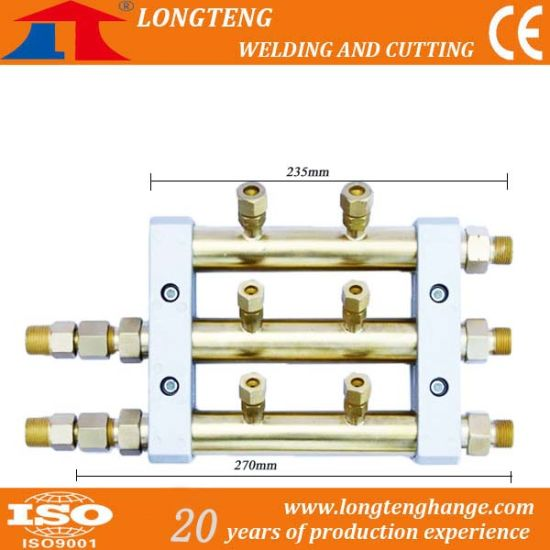 Two Outlet Gas Distributor for CNC Cutting Machine pictures & photos