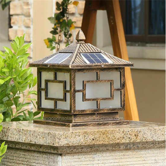 Outdoor Garden Solar Pillar Light For LED Decorative Lamp