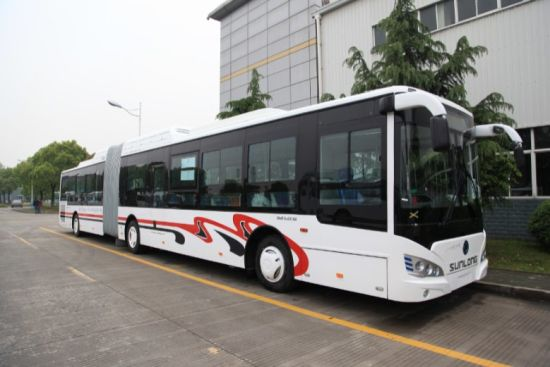 Slk6189 New Design Diesel Low Floor City Bus pictures & photos