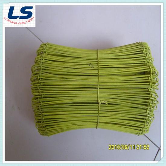 Black Double Loop Tie Wire, Galvanized Double Loop Tie Wire