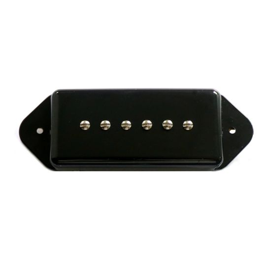 P90 DOG EAR NECK PICKUP BLACK ALNICO 5 MAGNETS VINTAGE SOUND