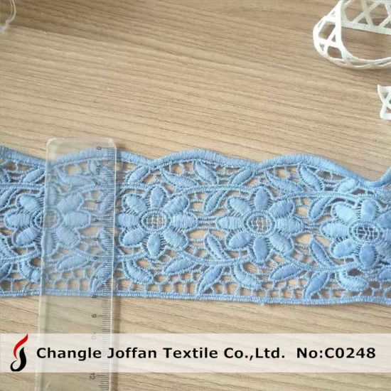 Dyed Water Soluble Embroidery Guipure Polyester Chemical Lace (C0248)
