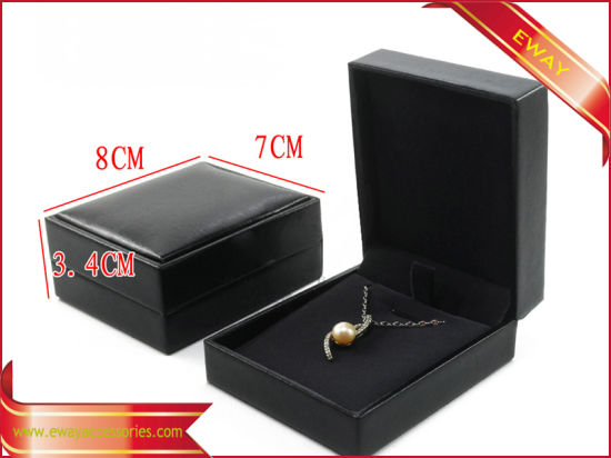 Black Leather Jewelry Box Fashion PU Jewelry Box pictures & photos