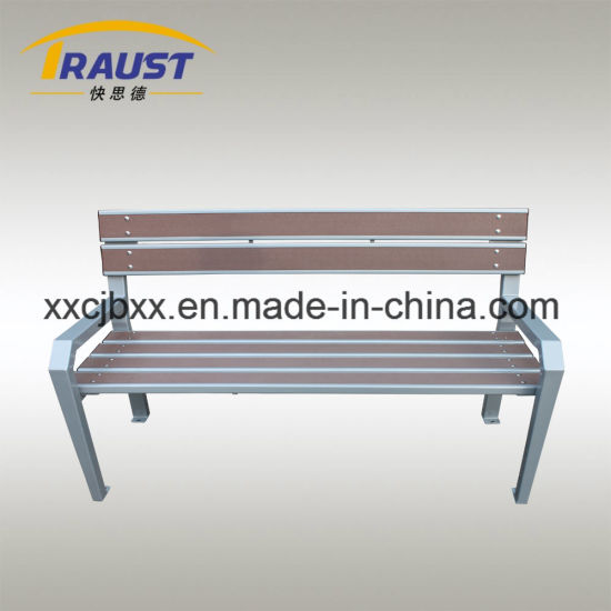 Special Design Wood Plastic and Cast Iron Material WPC Park Chair, Leisure Bench