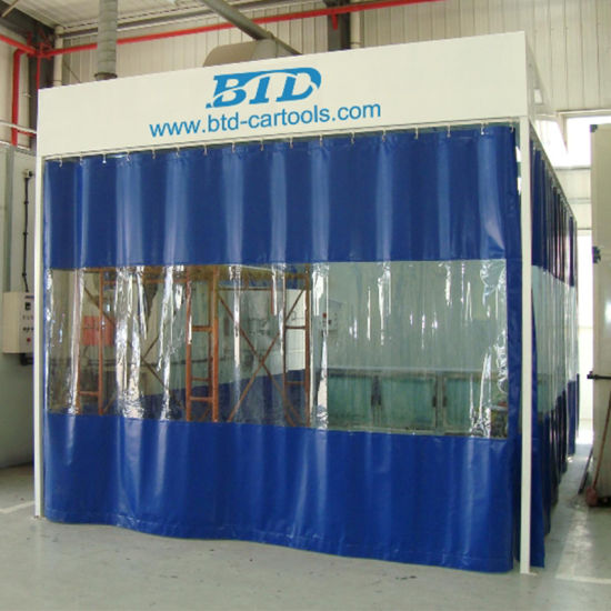 Curtain Spray Booth/ Paint Booth with PVC pictures & photos