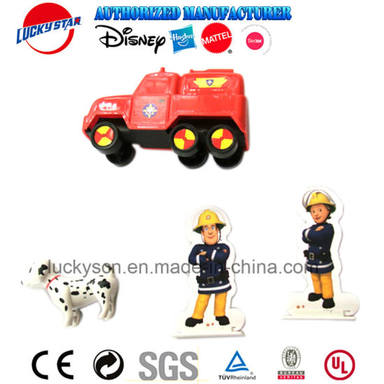 Fire Car and Dog Set Plastic Toy for Kid Promotional Gift