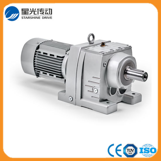 Foot/Flange Mounting Aluminum Body Helical Geared Motor Gearbox