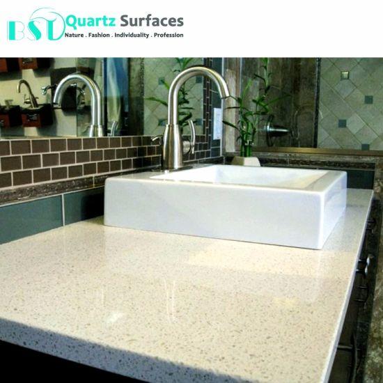China Iced White Quartz Slabs For Kitchen Countertop China White