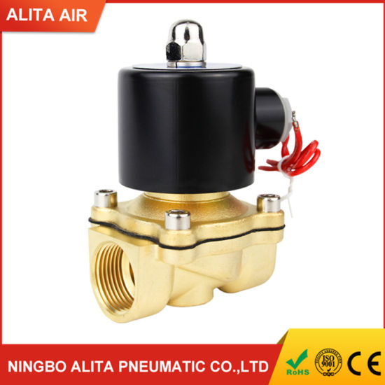 """1//2/"""" AC 220V N//C Brass Electric Solenoid Magnetic Valve for Water Flow Control S"""