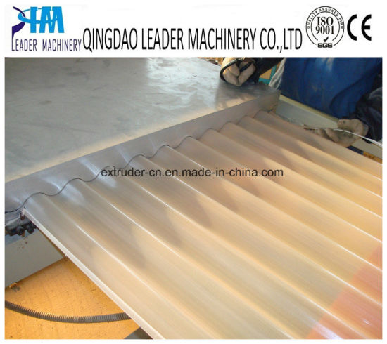 PVC UPVC Corrugated Waved Roofing Tiles Sheets Extrusion Line pictures & photos