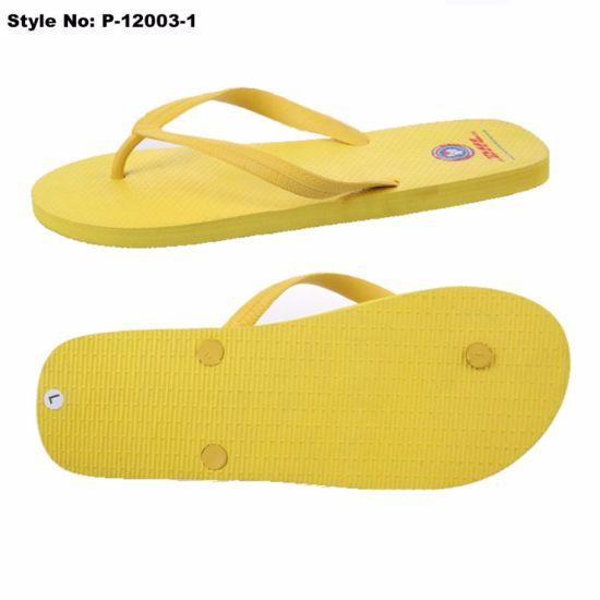 924e8dce2 China Cheap Durable Yellow PE Flip Flops Women Shoes - China Flip ...
