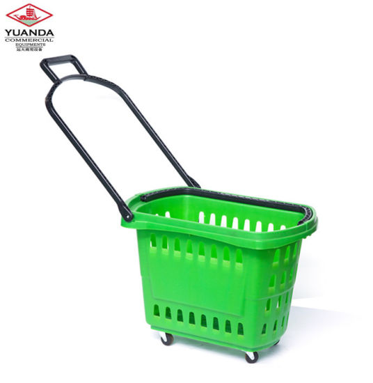 Double Handle Supermarket Metal Wire Shopping Basket pictures & photos