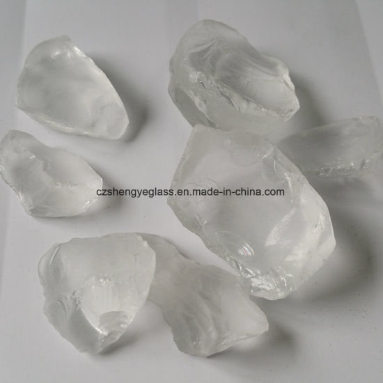 China Cheap Sale Crushed Glass Rocks For Fireplace Accessories