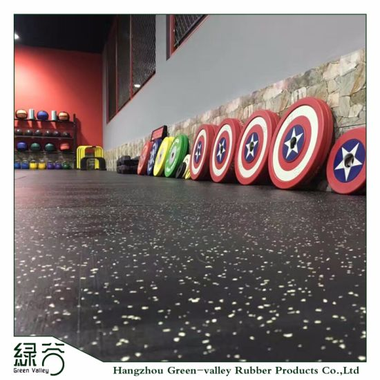 Factory Customized Anti Vibration Shock Absorber EPDM Speckles Rubber Mats Flooring for Gym/Ice Rinks/Home Use/Shooting Range/etc