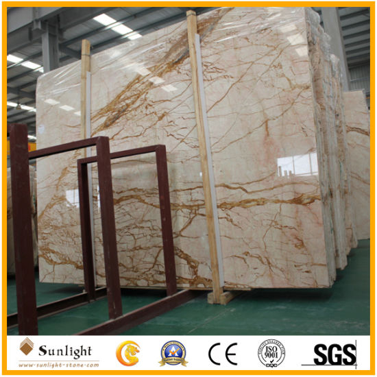 High Polished Gold Marble Meris Gold Marble Slab for Tiles, Countertops pictures & photos