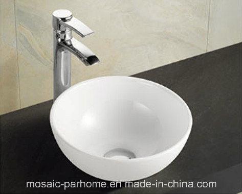 Modern Round Ceramic Bathroom Vanity Units Face Basin For