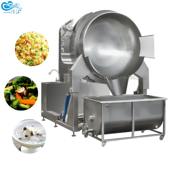 2020 China Factory Price Gas Electric Chicken Sauce Cooking Jacketed Kettle Fried Rice Cooking Machine Stirring Cooking Machine Ce Approved
