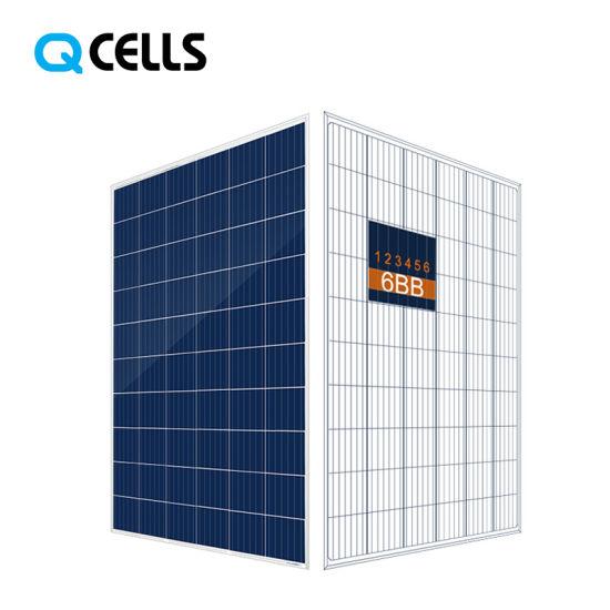 Q-Cells PV Poly Solar Panel 270W 275W 280W 285W for Solar Lighting System