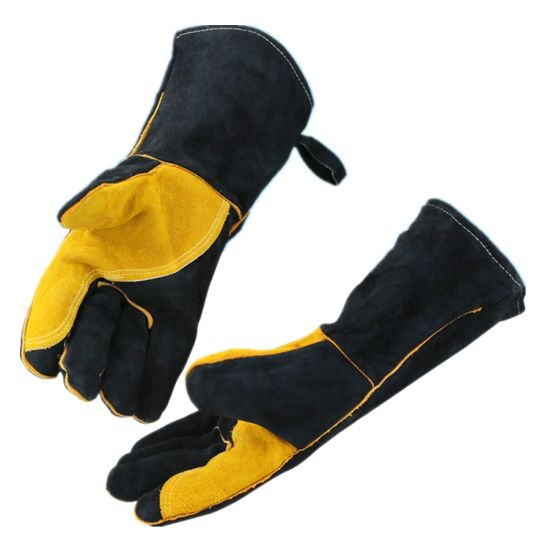 Heat Resistant Cowhide Leather Gloves for Welding Gardening Driver Barbecue