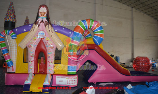 Princess Inflatable Castle Bouncer with Slide for Sale pictures & photos