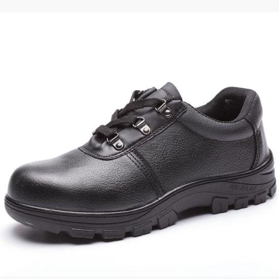 OEM/ODM Good Price Double Density PU Sole Steel Toe Genuine Leather Waterproof Industrial Work Working Safety Shoes