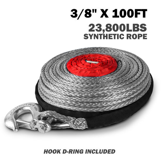 Grey High Strength Synthetic 30m Winch Rope