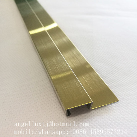 China Stainless Steel Floor Tile Trim Metal Transition Profile T