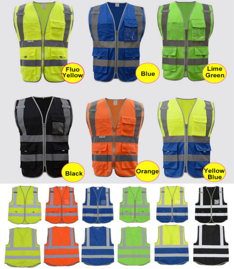 Safety Vest Reflective Company Logo Printing Workwear