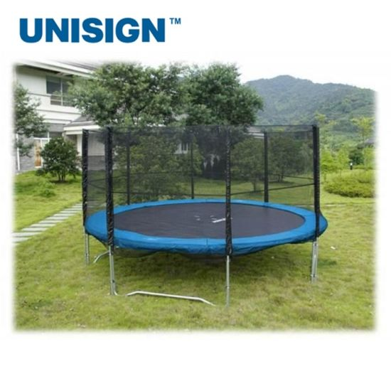 Young Man Fitness Folding Gym Hexagon Outdoor Trampoline with Handle