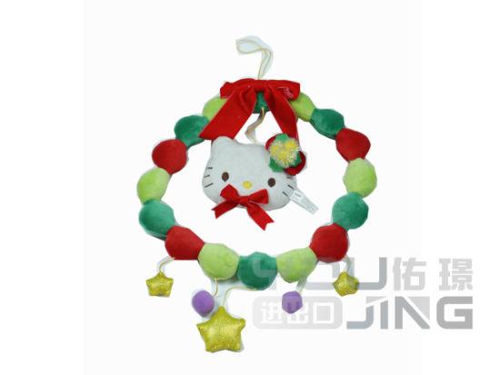 Christmas Decoration Plush Garland Hello Kitty Wreath