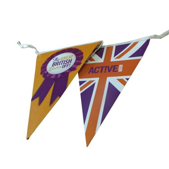 Wholesale Pricing Custom Polyester Cotton Lace Paper PE PVC Flags Bunting  (A)