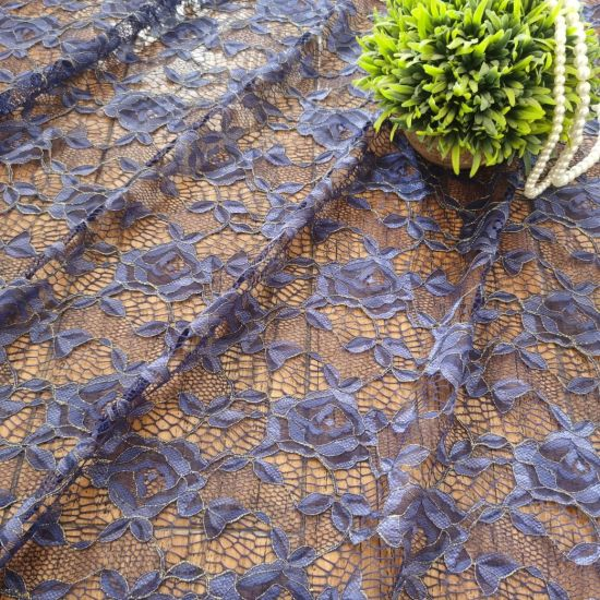 Dubai Fabric Elastic Lace Fabric Gold Metallic Indian African Lace (M0483-J)