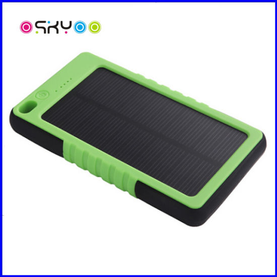 5000mAh Portable Solar Mobile Phone Power Battery Charger pictures & photos