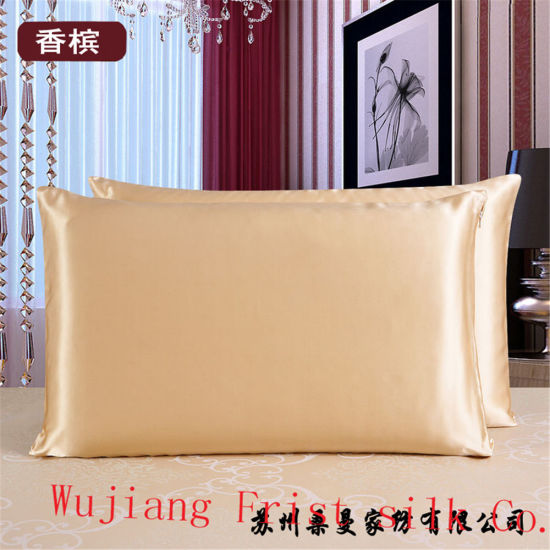 High Quality Ivory Silk Pillow pictures & photos